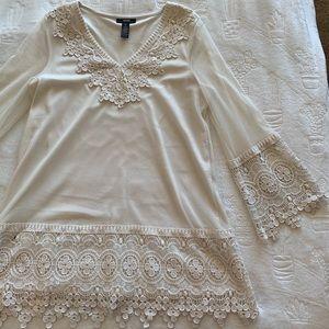 Alfani Lace Cream Dress